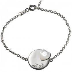 Silver Medal Heart Lovely Charm Bracelet