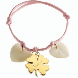 Gold Plated & MOP Lucky Charm Bracelet