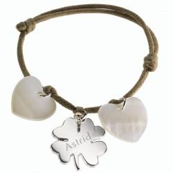 Silver & MOP Lucky Charm Bracelet